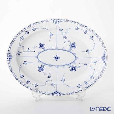ロイヤルコペンハーゲン(Royal Copenhagen) ブルー フルーテッド ハーフレースディッシュ(楕円) 36.5×29cm 1102375