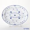 ロイヤルコペンハーゲン(Royal Copenhagen) ブルー フルーテッド ハーフレースディッシュ(楕円) 36.5×29cm 1102375/1017212