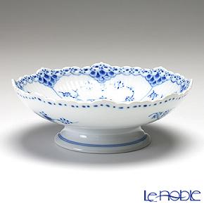 ロイヤルコペンハーゲン(Royal Copenhagen) ブルー フルーテッド ハーフレース ケーキ皿(脚付) 6×17.5cm 1102427