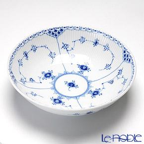 ロイヤルコペンハーゲン(Royal Copenhagen) ブルー フルーテッド ハーフレースサラダボウル(S) 6×21cm 1102577/1017218