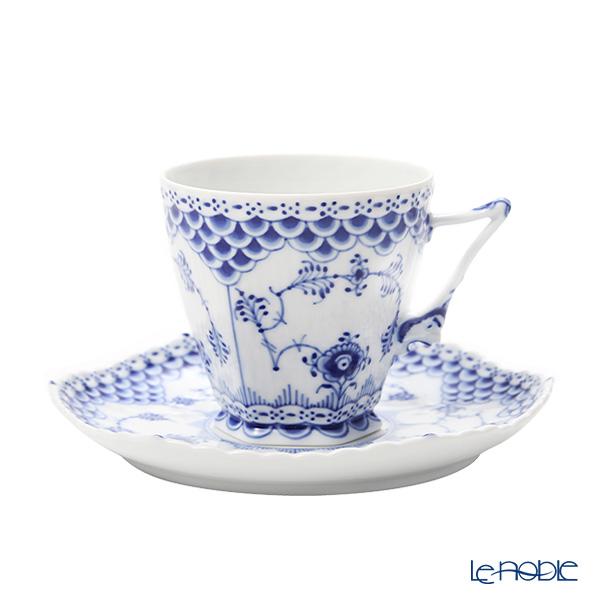 ロイヤルコペンハーゲン(Royal Copenhagen) ブルー フルーテッド フルレース コーヒーカップ&ソーサー(S) 140cc 1103068/1017226