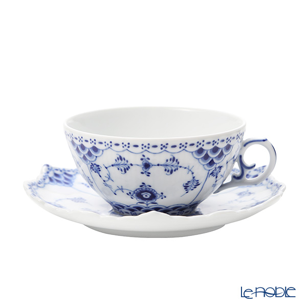 ロイヤルコペンハーゲン(Royal Copenhagen) ブルー フルーテッド フルレースティーカップ&ソーサー 220cc 1103080/1017227