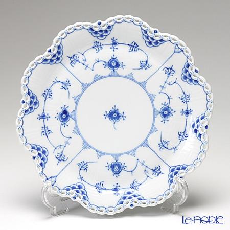 ロイヤルコペンハーゲン(Royal Copenhagen) ブルー フルーテッド フルレース ケーキ皿 25cm 1103422