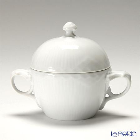 Royal Copenhagen White Fluted Half Lace Sugar bowl & cover 1128159