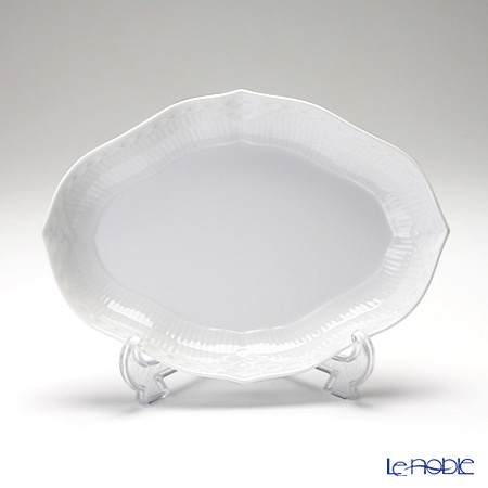 Royal Copenhagen 'White Fluted Half Lace' 1128353 Oval Dish 22x15.5cm