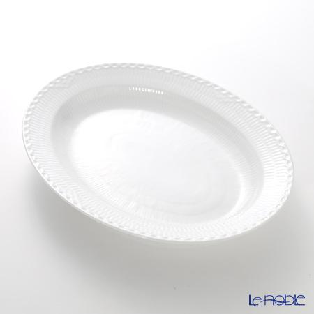 ロイヤルコペンハーゲン(Royal Copenhagen) ホワイト フルーテッド ハーフレース ディッシュ(楕円) 36.5×29cm 1128375/1017285