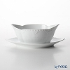 Royal Copenhagen (Royal Copenhagen) white fluted half lace Sauce boat 550 ml 1128563