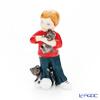 ロイヤルコペンハーゲン(Royal Copenhagen) フィギュリン 可愛い仲間男の子と猫(立ち) 7.5cm 1249123