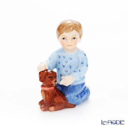 ロイヤルコペンハーゲン(Royal Copenhagen) フィギュリン 可愛い仲間 男の子と犬(座り) 5.5cm 1249125