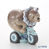 Nao 'I do Tricks (Circus Bear Ring a Tricycle)' 02001495 Animal Figurine H16.5cm