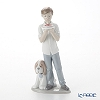 Nao 'A Birthday Wish (Boy Holding Cake with Puppy Dog)' 02001738 Children Figurine H25cm