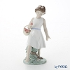 Nao 'Barefoot Stroll (Rose Basket)' 02001828 Children Figurine H23.5cm