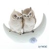 Nao 'Love Story (Owl Couple Sitting on Moon)' 02001901 Animal Figurine H15.5cm