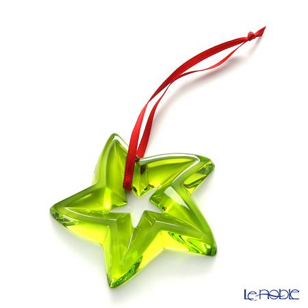 Baccarat Noel Star, Green 2-105-040