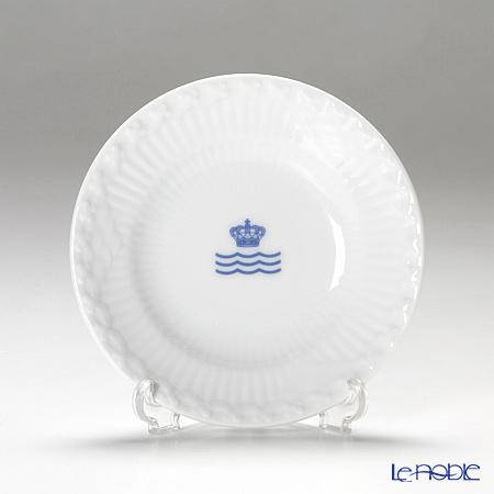 ロイヤルコペンハーゲン(Royal Copenhagen) ホワイト フルーテッド ハーフレース プレート 11cm ロゴマーク入 2215612