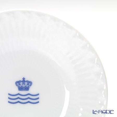 ロイヤルコペンハーゲン(Royal Copenhagen) ホワイト フルーテッド ハーフレースプレート 11cm ロゴマーク入 2215612