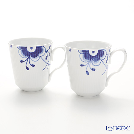 Royal Copenhagen Blue Fluted Mega Mug, 2-pack, 37 cl 2381043
