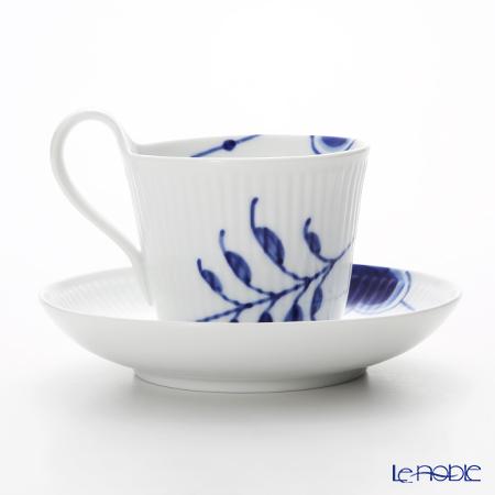 ロイヤルコペンハーゲン(Royal Copenhagen) ブルー フルーテッド メガティーカップ&ソーサー(ハイハンドル) 240cc 2382092/1016909