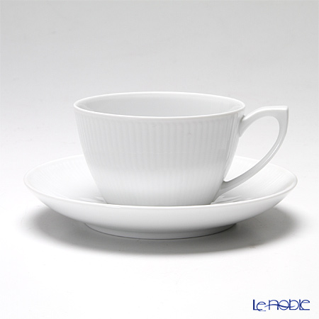 Royal Copenhagen 'White Fluted' 2408086 Tea Cup & Saucer 280ml