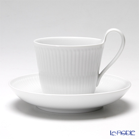 Royal Copenhagen White Fluted High handle cup & saucer 25 cl 2408092