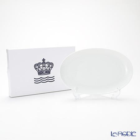 ロイヤルコペンハーゲン(Royal Copenhagen) ホワイト フルーテッド プレインオーバルディッシュ 23.5×15cm 2408356/1016929