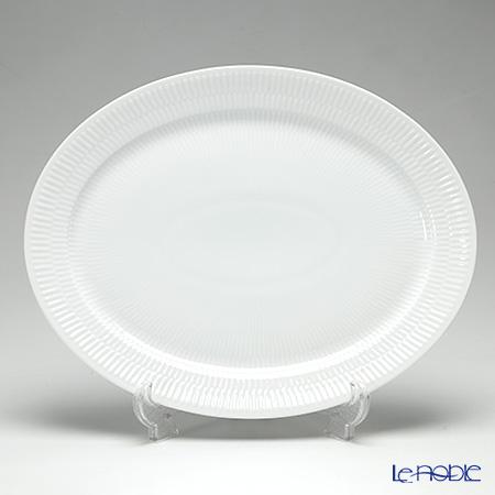 Royal Copenhagen White Fluted Oval plate 33 cm 2408633