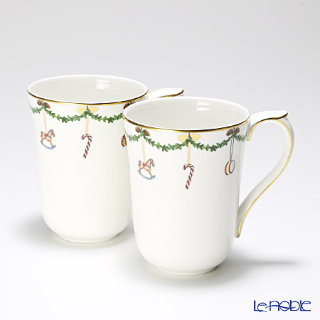 Royal Copenhagen Star Fluted Christmas Mug, 2-pack 2503497