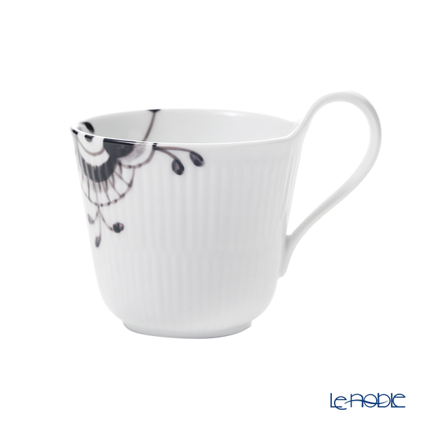 Royal Copenhagen 'Black Fluted Mega' 2541090/1017018 High Handle Mug 330ml