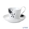 Royal Copenhagen 'Black Fruited Mega' 2542092/1017037 High handle Cup & Saucer 250ml