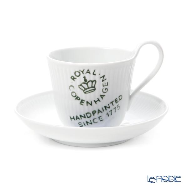 ロイヤルコペンハーゲン(Royal Copenhagen) フルーテッドシグネチャー ティーカップ&ソーサー(ハイハンドル) 240cc 2556092/1017477