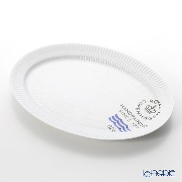 Royal Copenhagen 'Fluted Signature' Oval Dish 28x20.5cm 2556626
