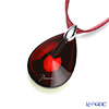 Baccarat 'Psydelic' Iridescent Red / Silver 2607004 Pendant (M)