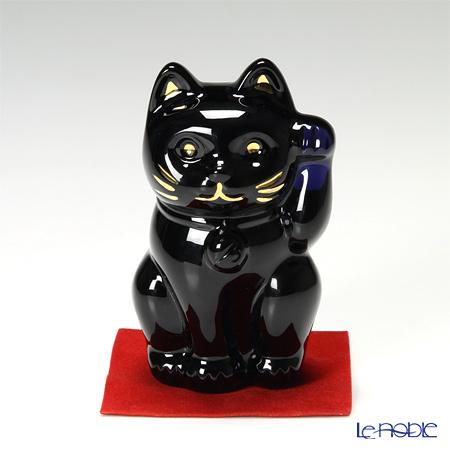 バカラ(Baccarat) オブジェ 2-607-787 まねき猫 10cm ミッドナイト