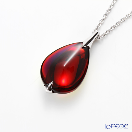 Baccarat Fleurs de Psydélic Necklace, Rouge Irise 2-610-120