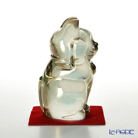バカラ(Baccarat) オブジェ 2-612-997まねき猫 10cm ゴールド