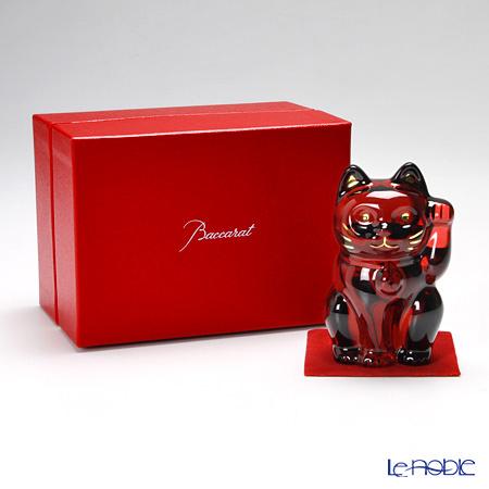 バカラ(Baccarat) オブジェ 2-613-002 まねき猫 10cm レッド
