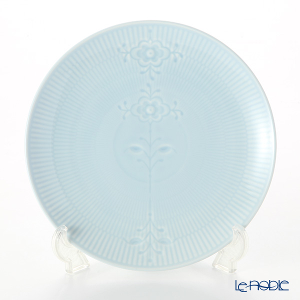 Royal Copenhagen 'Flower Emblem' Blue Coupe Plate 23.5cm 2613733