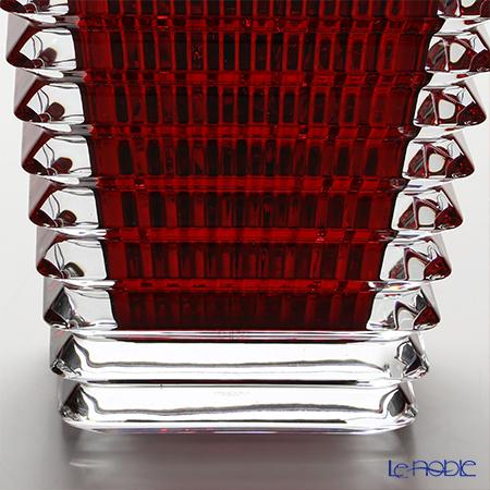 バカラ(Baccarat) EYE 2-802-298ベース(花瓶) スクエア S 20cm レッド