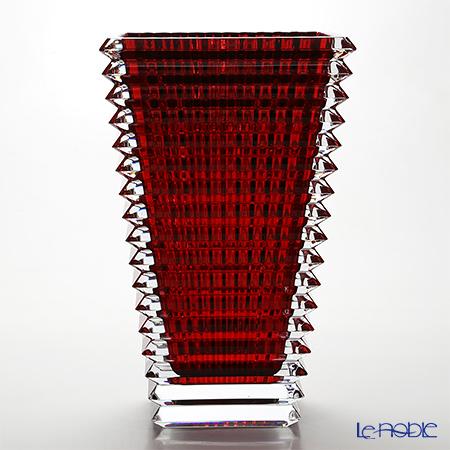 バカラ(Baccarat) EYE 2-802-302 ベース(花瓶) スクエア L 30cm レッド