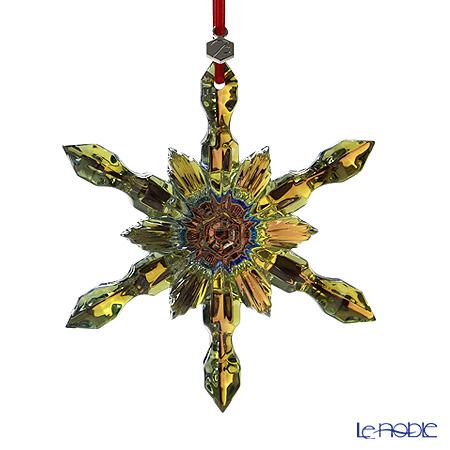 Baccarat Christmas Collection Yellow Snowflake 2013 Ornament, 2-804-665