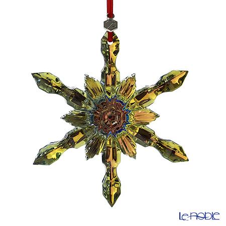 バカラ(Baccarat) オブジェ 2-804-665 オーナメント スノーフレーク イエローゴールド 11cm