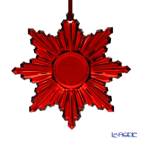 Baccarat Noel Ornament, red mirror 2-808-392 [Limited Edition 2014]