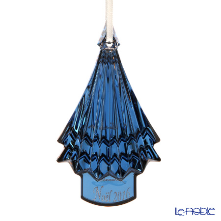 Baccarat Noel Annual Ornament 2016, metalic blue 2-810-279