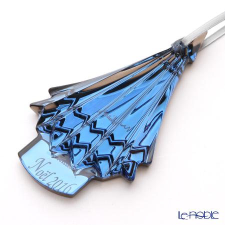 Baccarat Noel Annual Ornament 2016, metalic blue 2-810-279