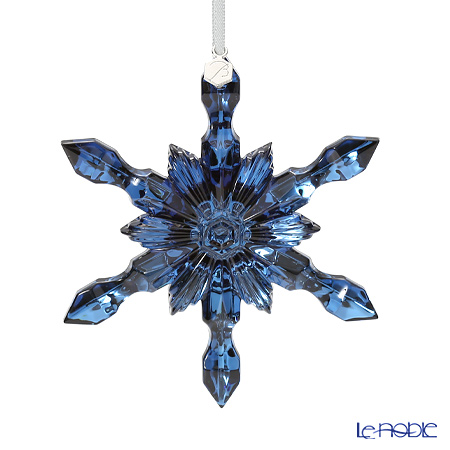 Baccarat 'Noel Collection 2016 - Snowflake' Metalic Blue 2810281 Christmas Ornament