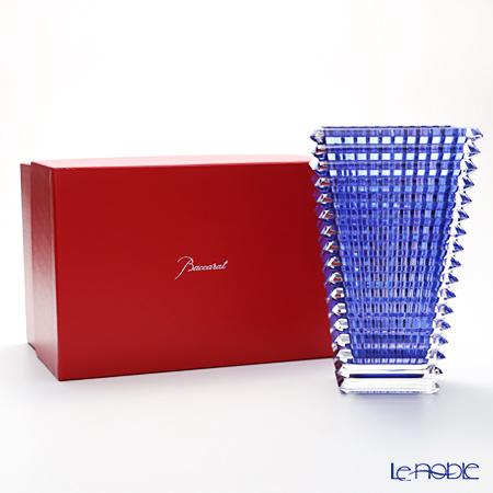 Baccarat 'EYE' Blue Lacquer 2811106 Rectangular Vase H30cm (L)