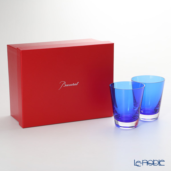 バカラ(Baccarat) モザイク 2-811-108(2-103-910) タンブラー ブルー 220cc ペア