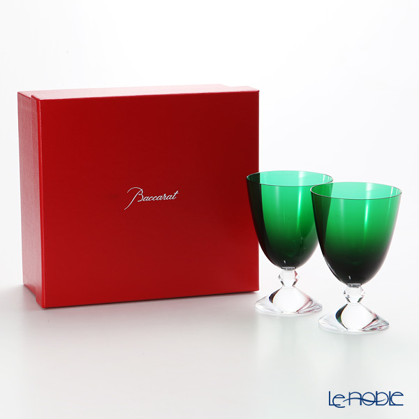 バカラ(Baccarat) ベガ 2-812-263(2-103-700) スモールグラス グリーン 14cm ペア