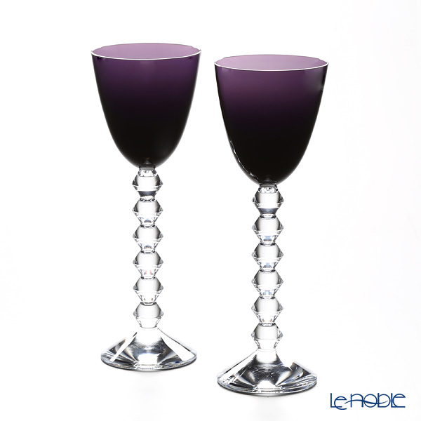 Baccarat 'Vega - Rhine' Purple 2812269/2100595 Wine Glass 220ml (set of 2)
