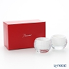 Baccarat 'EYE - Votive' White Lacquer 2812806 Candle Light Holder 10xH7.5cm (set of 2)